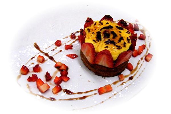 Sabayon aux fruits rouges sur sablé breton