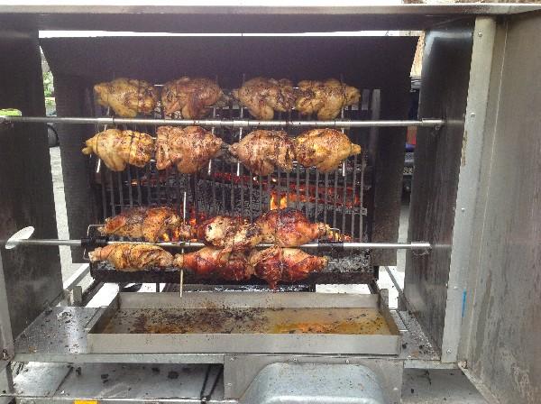 Avec le tournebroche on peur fait : <br /> Porcelet , agneau , aloyau de bœuf ( faux filet et entrecôte ) poulet ......