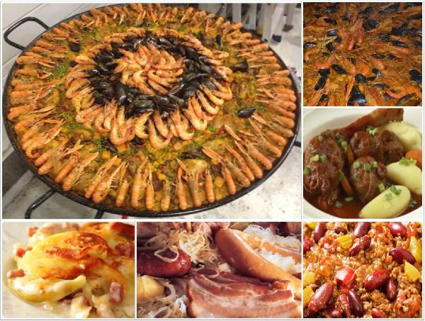 Nos plats : <br /> <br /> Paella royale, Fid&eacute;ua, Poulet Basquaise, Civet de porcelet, Daube Proven&ccedil;ale, Estouffade, Tartiflette, Gardiane de Taureau, Pieds et Paquets, Chili con carne, Choucroute...<br />
