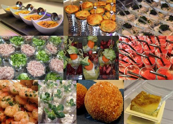 Nos tapas chauds et Froids: <br /> <br /> Cr&egrave;me brul&eacute;e au foie gras, Cannel&eacute;s au Roquefort, Carpaccio de Coquilles Saint-Jacques, Mini brochettes de Gambas, Mini brochettes de Canard, Mini brochettes de Poulet, Croquetas, Calamars &agrave; la romaine, Crostini de chorizo.....