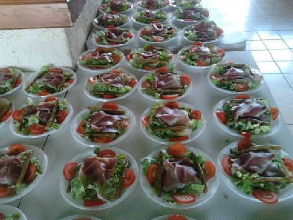 Salade de jambon et asperge verte