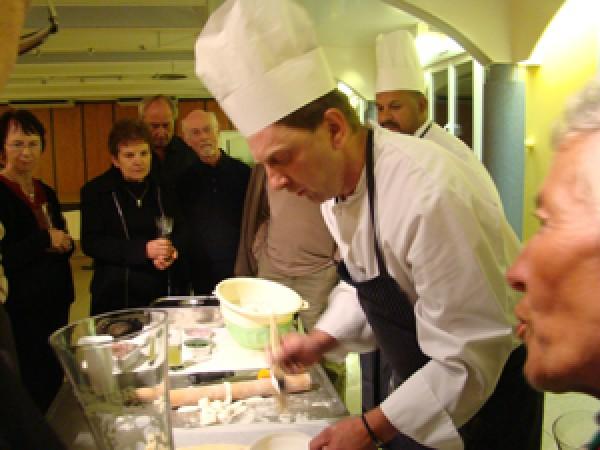 Démonstration culinaire, stages réalisés sur notre résidence touristique pour tout groupe.
