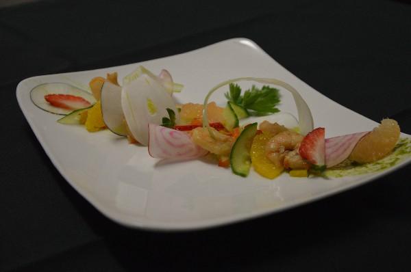 Fraicheur de Crevettes aux Agrumes et Légumes Croquants